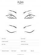 Фейсчарт глаза